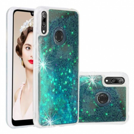 Back Water Vennus Liguid case with Blue Brocade for Huawei Y7 2019 DUB-LX1 / Y7 Prime (2019) DUB-LX3