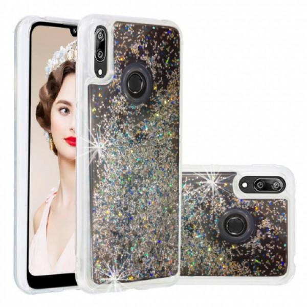 Back Water Vennus Liguid case with Silver Brocade for Huawei Y7 2019 DUB-LX1 / Y7 Prime (2019) DUB-LX3