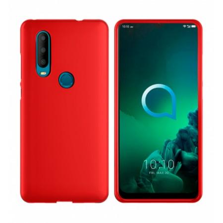TPU Silicone Case for Alcatel 3X 2019 5048Y - red matte