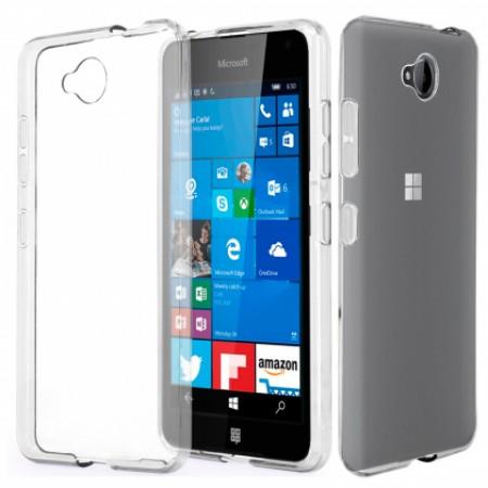 TPU Silicone Case for Microsoft Lumia 650 - transperant