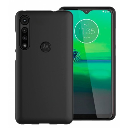 TPU Silicone Case for Motorola One Macro / PAGS0005IN - black matte
