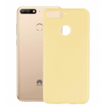 Gold TPU Gel Silicone Case for Huawei Y6 2018 ATU-L21
