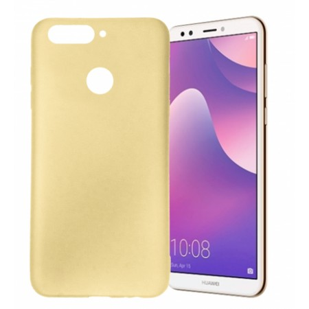 Gold TPU Gel Silicone Case for Huawei Y7 Prime 2018