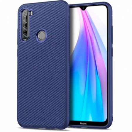 Full CARBON silicone blue with carbon print for Xiaomi Redmi Note 8T