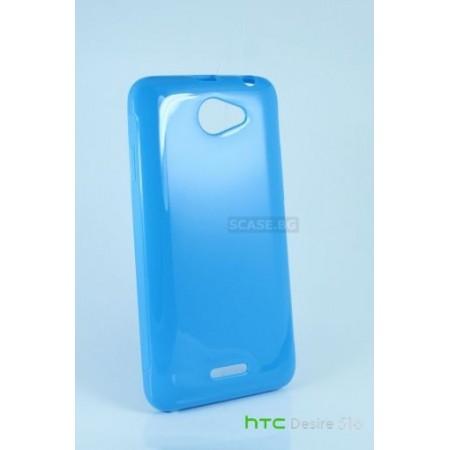 Blue TPU Silicone Case for HTC Desire 516