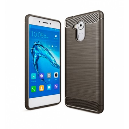 Gray silicone back with carbon print for Huawei Nova Smart / Enjoy 6s