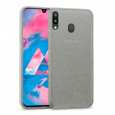 Gray Ultra Thin TPU Silicone Bling Case for Samsung Galaxy M20 / SM-M205F