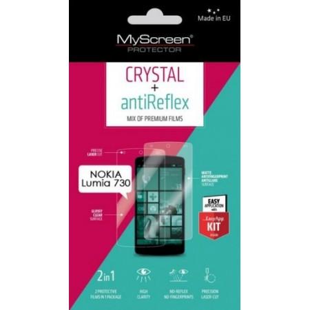 Nokia Lumia 730 crystal and foil antiblyasak