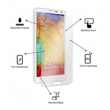 Impact resistant glass screen protector for Samsung Galaxy Note 4 SM-N910F