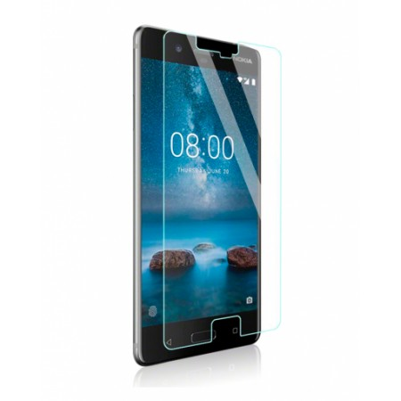 Impact resistant glass screen protector for Nokia 8