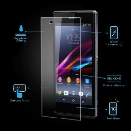 Impact resistant glass screen protector for Sony Xperia Z2