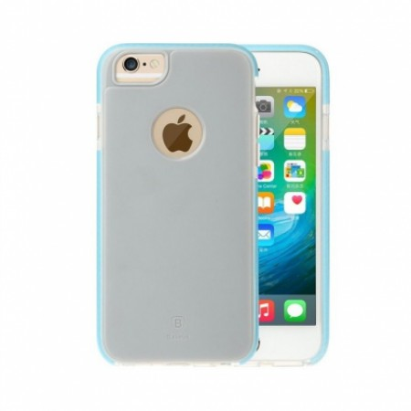 TPU+TPE Case Impact Protection - Baseus JUMP case for iPhone  6 /6S -  Grey/blue