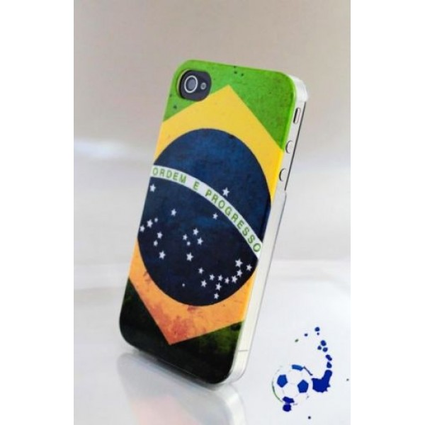 Hard plastic Case Brazil for iPhone 4 / 4S