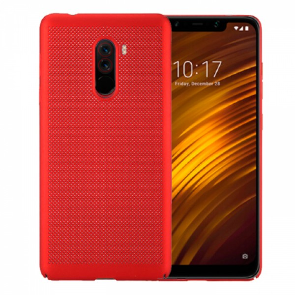 Red Hard back Honeycomb for Xiaomi Pocophone F1