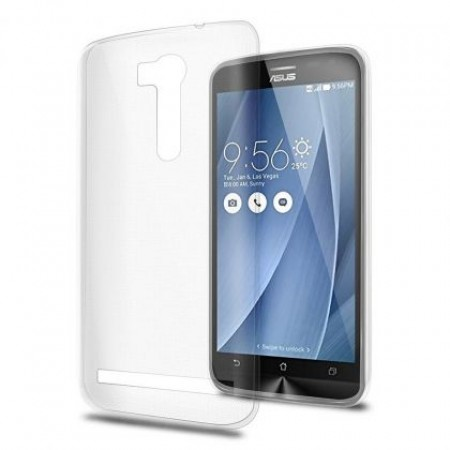 Ultra Thin TPU Silicone Case for Asus Zenfone Go 5.5\' ZB551KL - white