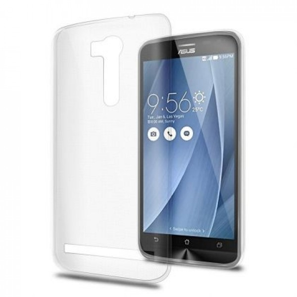 Ultra Thin TPU Silicone Case for Asus Zenfone Go 5.5' ZB551KL - white