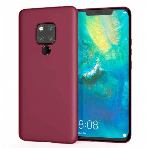 Ultra Thin TPU Silicone Case UNI for Huawei Mate 20 - dark purple matt