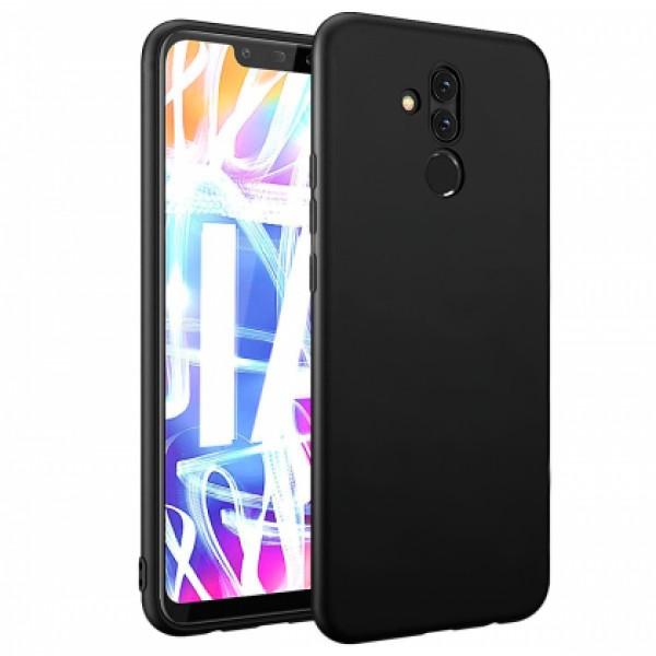 Ultra Thin TPU Silicone Case UNI for Huawei Mate 20 Lite SNE-LX1 - black matt