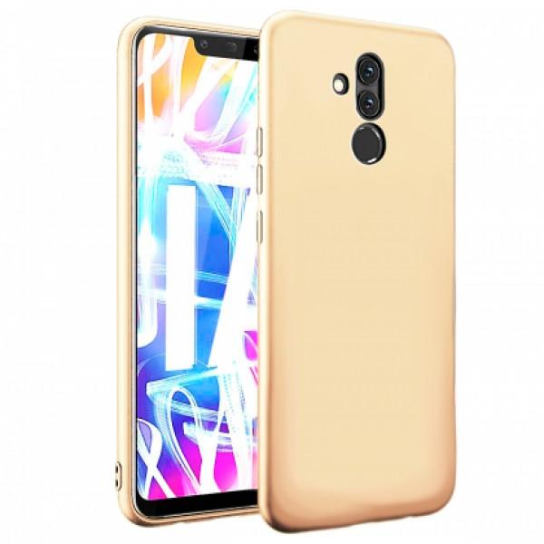 Ultra Thin TPU Silicone Case UNI for Huawei Mate 20 Lite SNE-LX1 - gold matt