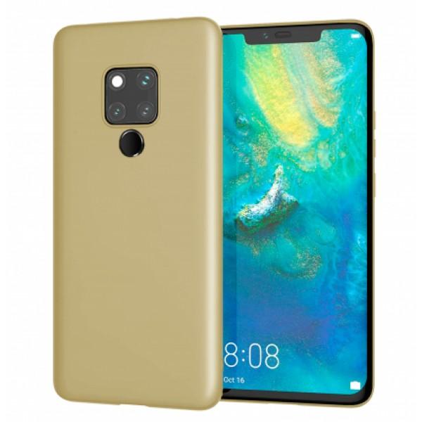 Ultra Thin TPU Silicone Case UNI for Huawei Mate 20 - gold matt