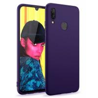 Ultra Thin TPU Silicone Case UNI for Huawei P smart 2019 POT-LX1 - dark blue matt