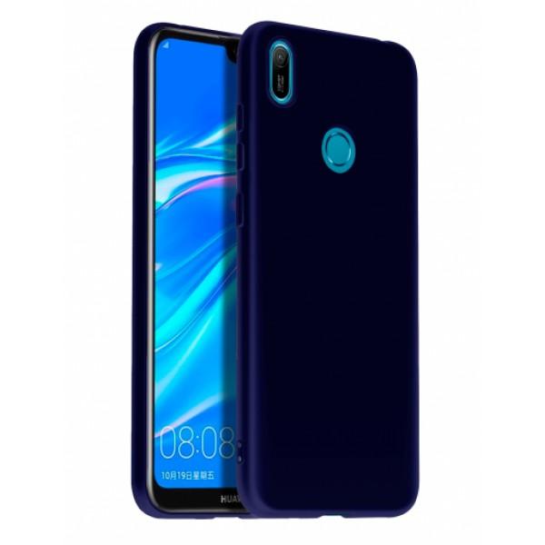 Ultra Thin TPU Silicone Case UNI for Huawei Y6 / Y6 Prime (2019) - dark blue matt