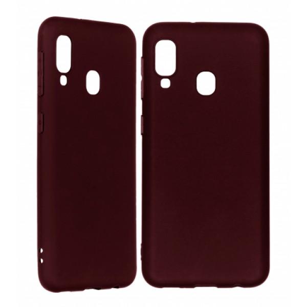 Ultra Thin TPU Silicone Case UNI for Samsung Galaxy A20e / SM-A202F/DS- dark purple matt