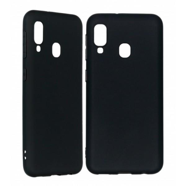 Ultra Thin TPU Silicone Case UNI for Samsung Galaxy A20e / SM-A202F/DS- black matt