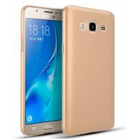 Ultra Thin TPU Silicone Case UNI for Samsung Galaxy J3 2016 J320FN - gold matt
