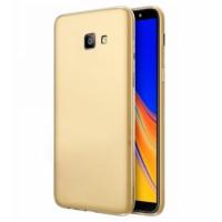 Ultra Thin TPU Silicone Case UNI for Samsung Galaxy J4+ j415- gold matt