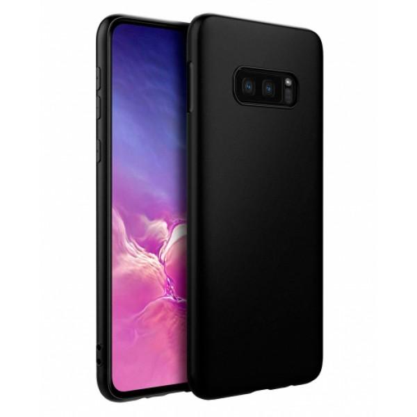 Ultra Thin TPU Silicone Case UNI for Samsung Galaxy S10e / G970 - black matt