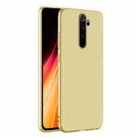 Ultra Thin TPU Silicone Case UNI for Xiaomi Redmi Note 8 Pro / M1906G7I - gold matt