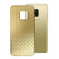Gold silicone Grid Effect for Samsung Galaxy A8 (2018) A530F