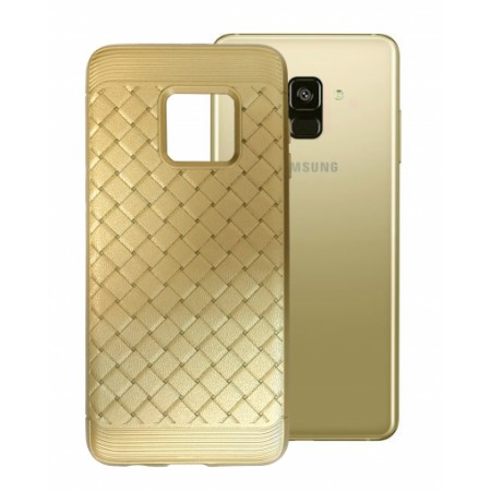 Gold silicone Grid Effect for Samsung Galaxy A8 (2018) A530F