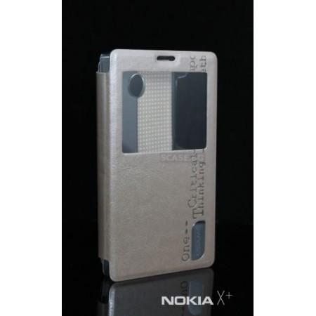 Gold Flip case for Nokia X+